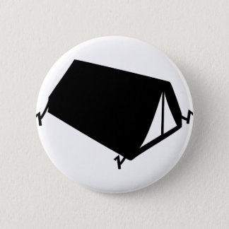 camping tend icon pinback button