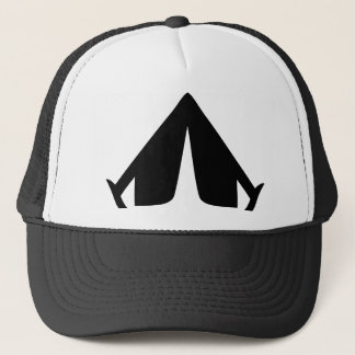 camping tend icon trucker hat