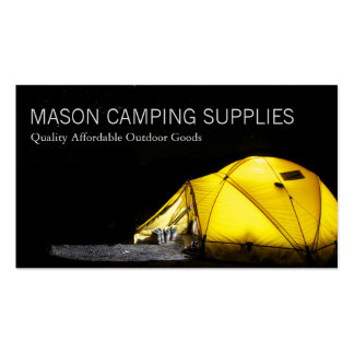 Camping Tent At Night - Business Card
