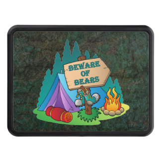 CAMPING TENT BEWARE BEARS HITCH COVER