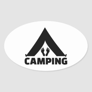 Camping tent feet oval stickers