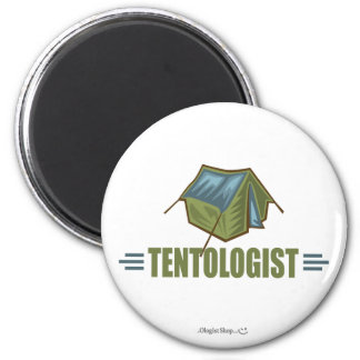 Camping, Tent 2 Inch Round Magnet