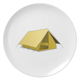 Camping Tent Dinner Plate