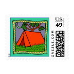 CAMPING TENT Postage Stamp