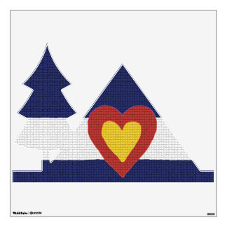 Camping Tent with Colorado Flag Wall Decal