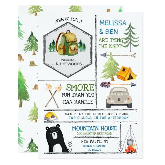 Camping Theme Invitations: Badges & Icons Invitation