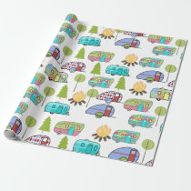 Camping Themed Wrapping Paper