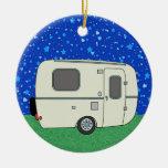 Camping Trailer Ceramic Ornament