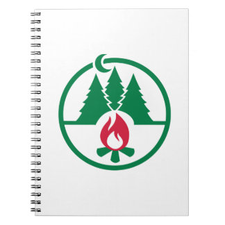 Camping trees campfire note books