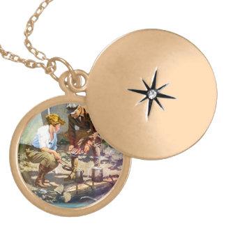Camping trip locket necklace