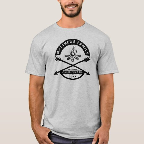 Camping Trip Reunion Shirt  Dark Design