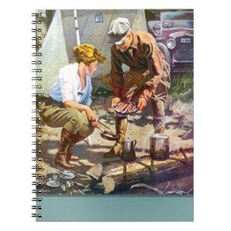 Camping trip spiral notebook