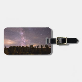Camping Under Nighttime Milkway Stars Luggage Tag