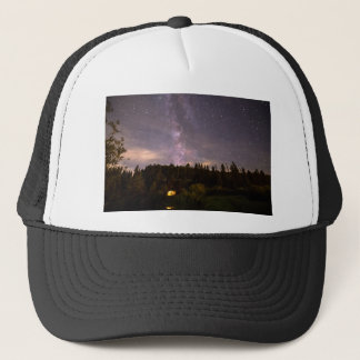 Camping Under Nighttime Milkway Stars Trucker Hat