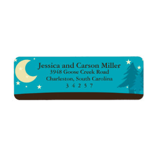 Camping Under the Moon and Stars Label