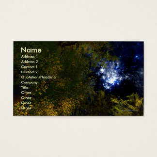 Camping Under The Stars Business Card Template