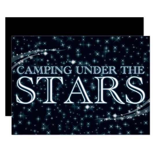 camping under the stars invitation zazzle com