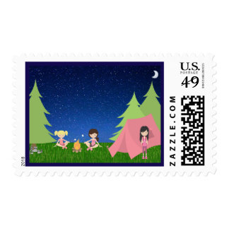 Camping Under The Stars Postage Stamp
