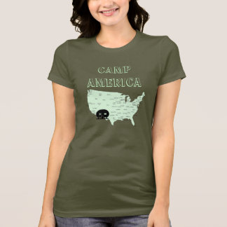 Camping USA Map RVing Camp America T-Shirt