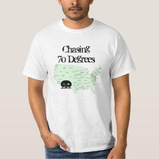 Camping USA Map RVing Chasing 70 Degrees T-Shirt