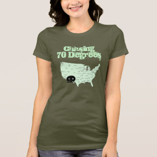 Camping USA Map RVing Chasing 70 Degrees T-Shirt