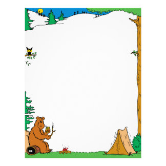 Camping Vacation Letterhead