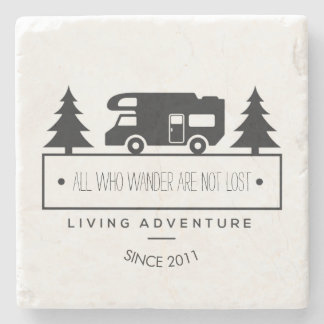 Camping Wanderlust | Travel Quotes RVing Retired Stone Coaster