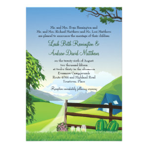 Camping Wedding Invites