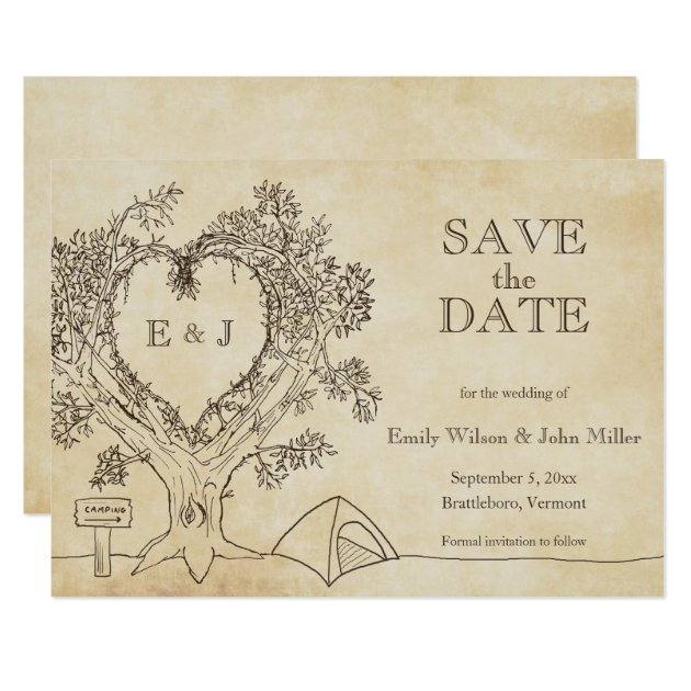 Camping Wedding Save the Date Announcements | Zazzle