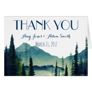 Camping Wedding - Thankyou Note Card