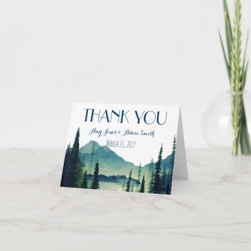 Camping Wedding _ Thankyou Note Thank You Card