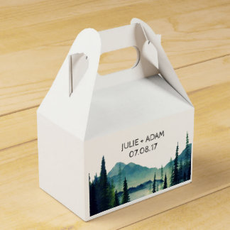 Camping Wedding Wedding Favor Boxes