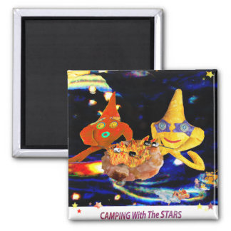 Camping with the stars magnet