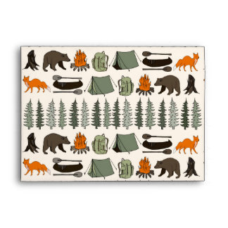 Camping Woodland Bear Fox Forest / Andrea Lauren Envelope