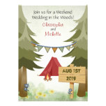 Camping Woodland Wedding Invitation
