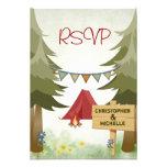 Camping Woodland Wedding RSVP Card