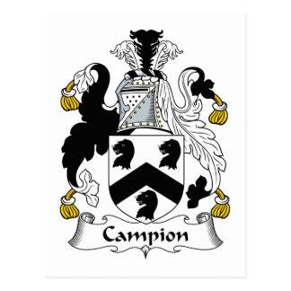 Campion Family Crest Postcard
