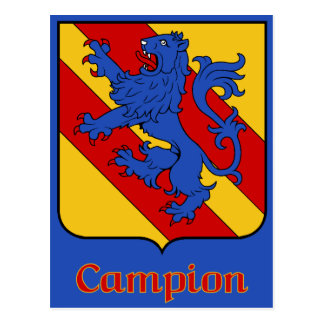 Campion Family Shield Postcard