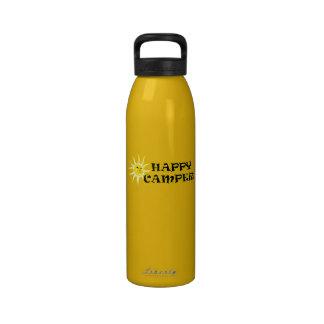 Campista contento 24oz. Botella de agua