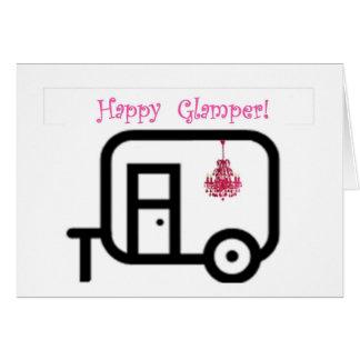 ¡Campista contento Glamper feliz!! Tarjeta De Felicitación