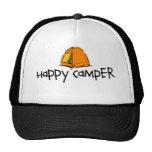 Campista contento gorras de camionero