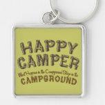 Campista contento - llavero que acampa de rv