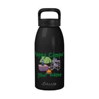 Campista contento personalizado botellas de beber