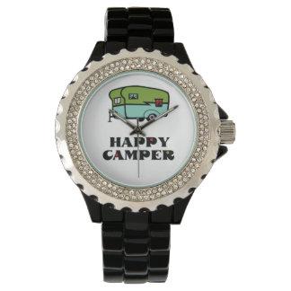 Campista contento relojes de mano
