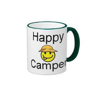 Campista contento taza de dos colores