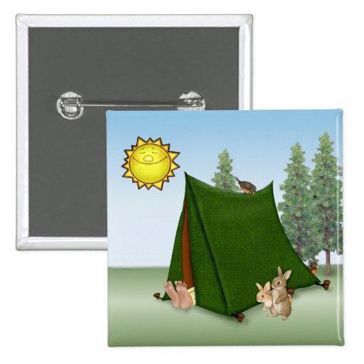 Campista de la subida y del brillo pin cuadrado
