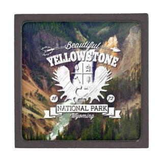 Campista de Yellowstone Cajas De Recuerdo De Calidad