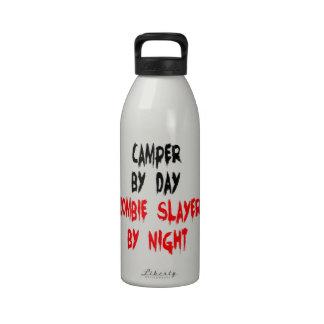 Campista del asesino del zombi botellas de agua reutilizables