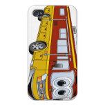 Campista del dibujo animado del autobús del oro rv iPhone 4 carcasa