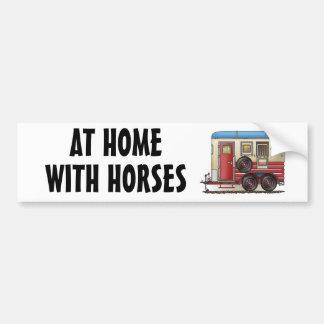 Campista del remolque del caballo etiqueta de parachoque